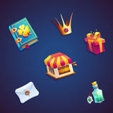 Zoete video het Webspelen van wereld mobiele GUI vastgestelde elementen Stock Fotografie