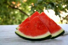 Zoete watermeloenplakken royalty-vrije stock afbeeldingen