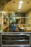 Zoete winkel in de bazaren van Damascus, Syrië Stock Afbeeldingen