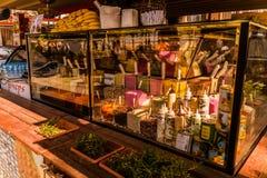 Zoete Winkel Storefront Stock Foto
