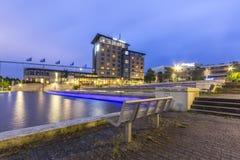 Zoetermeer nach Einbruch der Dunkelheit Lizenzfreie Stockfotografie