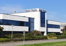 Man Rollo, Zoetermeer. Zoetermeer, the Netherlands. October 2018. Man Rollo company headquarters. MAN Rollo B.V. supplies compressions and turbines for the stock image