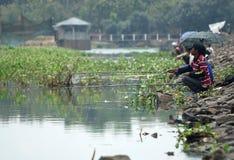 ZOETWATER DE VISSERIJpotentieel VAN INDONESIË Stock Afbeeldingen
