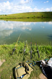 Zoetwatervisserij stock foto's
