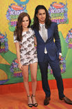 Zoey Deutch. LOS ANGELES, CA - MARCH 29, 2014: Zoey Deutch & boyfriend Evan at Nickelodeon's 27th Annual Kids' Choice Awards at the Galen Centre, Los Angeles Royalty Free Stock Photos