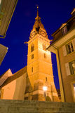 Zofingen church tower Royalty Free Stock Image