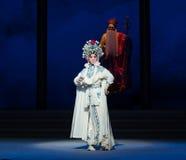 """Zogenaamd de rechtvaardigheid-zesde overstromingen gouden heuvel-Kunqu Opera""""Madame Witte Snake† van het handelingswater Royalty-vrije Stock Afbeelding"""