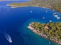 Free Zogeria Bay At Spetses Island, Greece. Royalty Free Stock Image - 157929916