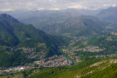 Zogno aerial, Italy Royalty Free Stock Image