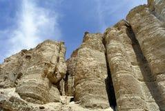 Zohar柱子在犹太沙漠。 免版税图库摄影
