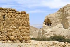 Zohar fästning i den Judea öknen. royaltyfri foto