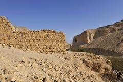 Zohar fortress in Judea desert. stock photo