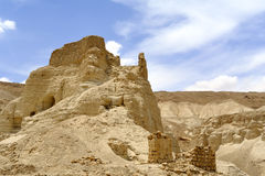 Zohar fortress in Judea desert. Royalty Free Stock Photo