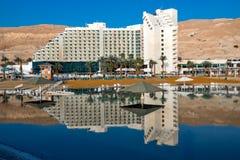 ZOHAR, MAR MORTO, ISRAEL - 24 DE FEVEREIRO DE 2018: Hotel Leonardo Club Vista do mar foto de stock royalty free