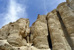 Zoharpijlers in Judea-woestijn. Royalty-vrije Stock Fotografie