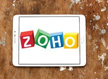 Zoho Corporation logo. Logo of Zoho Corporation on samsung tablet. Zoho Corporation is an information technology and business management software as a service Royalty Free Stock Image