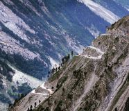 Zojila Pass. One of most increadible passes in Kashmir royalty free stock photos