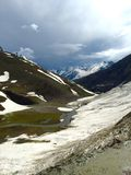 Zojila pass and Valley below Stock Photos