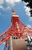 Zojo籍寺庙看法和东京耸立,东京,日本 库存图片