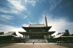 Zojoji寺庙,东京,日本 免版税库存照片