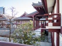 Zojoji tempel Tokyo Japan arkivfoto