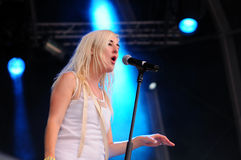 Zola Jesus (band) performs at FIB Stock Photo