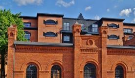 Zolder Aparts in Lodz, Polen Royalty-vrije Stock Fotografie