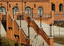 Zolder Aparts in Lodz, Polen Royalty-vrije Stock Foto