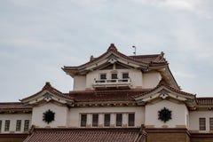 Zolder van een oud Japans gebouw royalty-vrije stock afbeelding