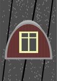 Zolder venster. Stock Foto's