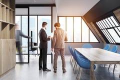 Zolderconferentieruimte, blauw, mensen Royalty-vrije Stock Fotografie