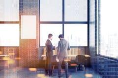 Zolderrestaurant, verticale spot op affiche, mensen Royalty-vrije Stock Afbeelding