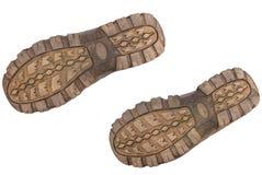Zolen van laarzen. stock afbeelding