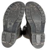 Zolen van militaire laarzen Stock Foto