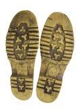 Zolen van werkende laarzen Royalty-vrije Stock Afbeeldingen