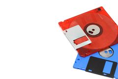 3 5 Zoll Diskette Weißhintergrund Stockfoto