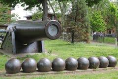 0 Zoll Parrott-Kanone von 1864 als Bürgerkrieg-Denkmal in Bucht-Ridge-Bereich von Brooklyn Stockbild