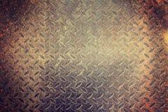 Zolla arrugginita del diamante Fotografie Stock