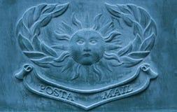 Zolla Bronze della posta Fotografie Stock