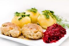 Zolla con alimento Fotografie Stock