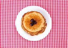 Zolla con i pancake Immagine Stock Libera da Diritti