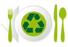 Zolla con il riciclaggio del simbolo Fotografia Stock