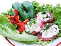 Zolla con insalata Fotografia Stock