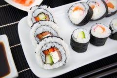 Zolla con l'insieme dei sushi Fotografia Stock