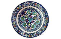 Zolla decorativa turca delle mattonelle - isolata Immagine Stock