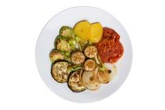 Zolla dell'alimento con le verdure Immagine Stock