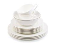 Zolla della porcellana su bianco Fotografia Stock