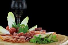 Zolla delle specialità gastronomiche della carne Fotografia Stock