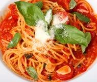 Zolla di recente cucinata di spaghetti immagine stock libera da diritti
