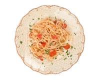 Zolla di spaghetti Immagine Stock
